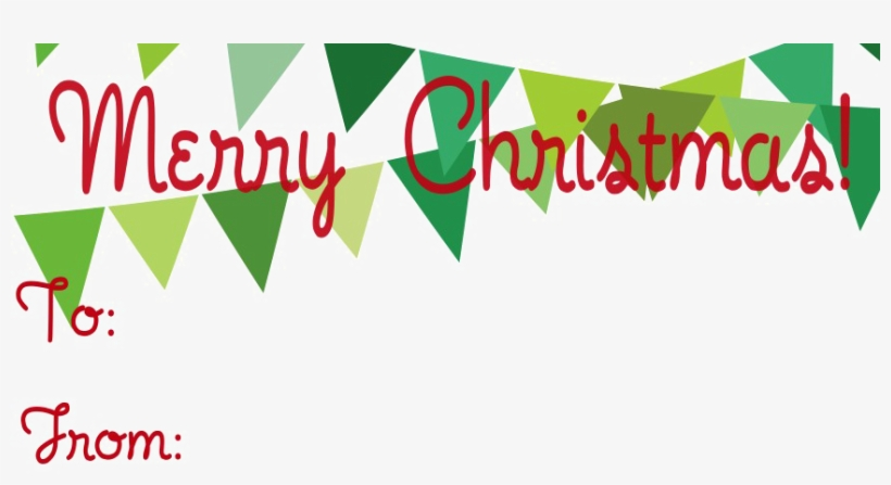 Merry Christmas Png Photo - Christmas Gift Tag Template, transparent png #25586