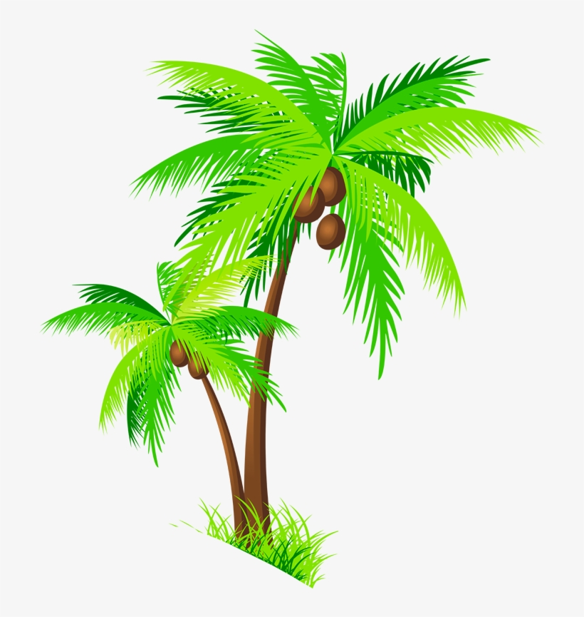Coconut Tree Clipart Group - Coconut Trees Clipart Png, transparent png #25949