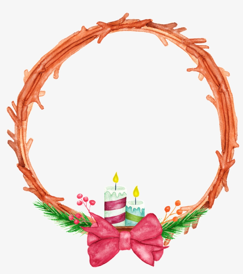 This Graphics Is Hand Painted Two Candles Circle Png - Portable Network Graphics, transparent png #26308