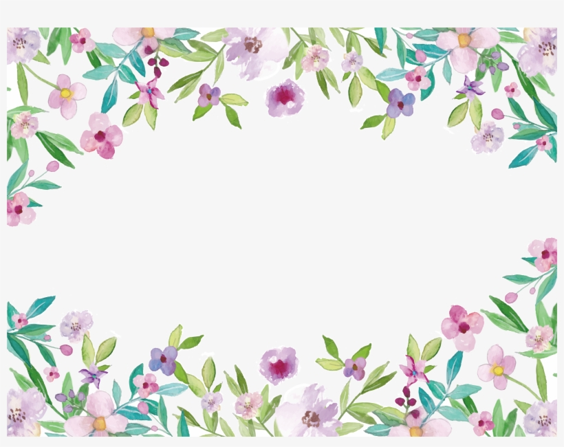 Painting Clip Art Flowers Watercolor Flower Border Clipart Free Transparent Png Download Pngkey