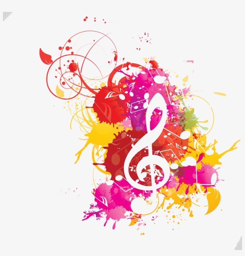Musical Note Watercolor Painting Musical Notation - Watercolor Music Notes, transparent png #27440