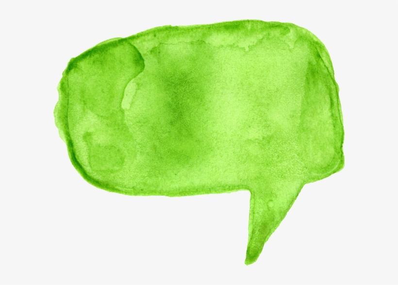 Free Download - Watercolour Speech Bubble Png, transparent png #27621
