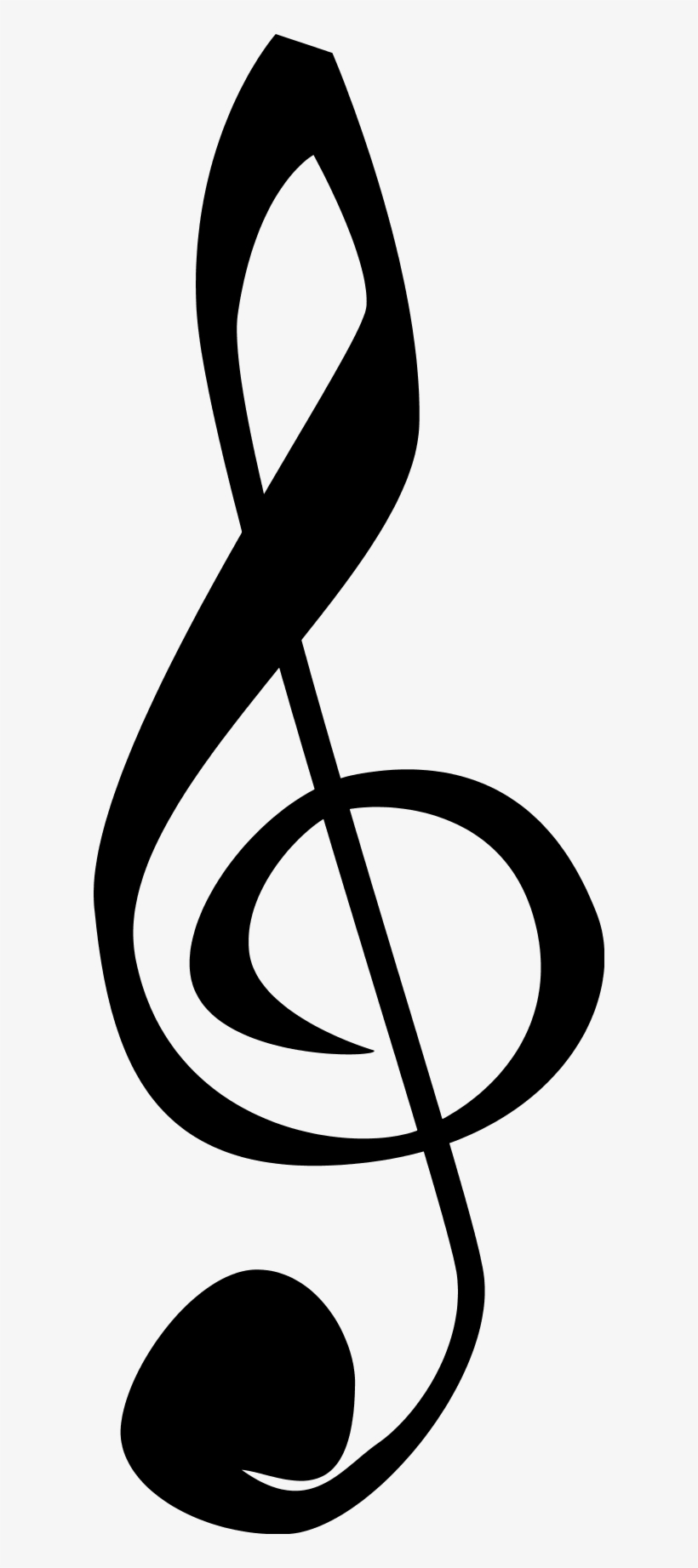 Treble Staff Clipart - Music Symbols, transparent png #27647