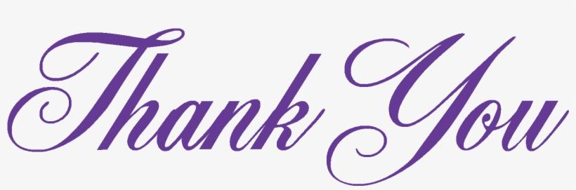 Thank You Script - Thank You, transparent png #27781