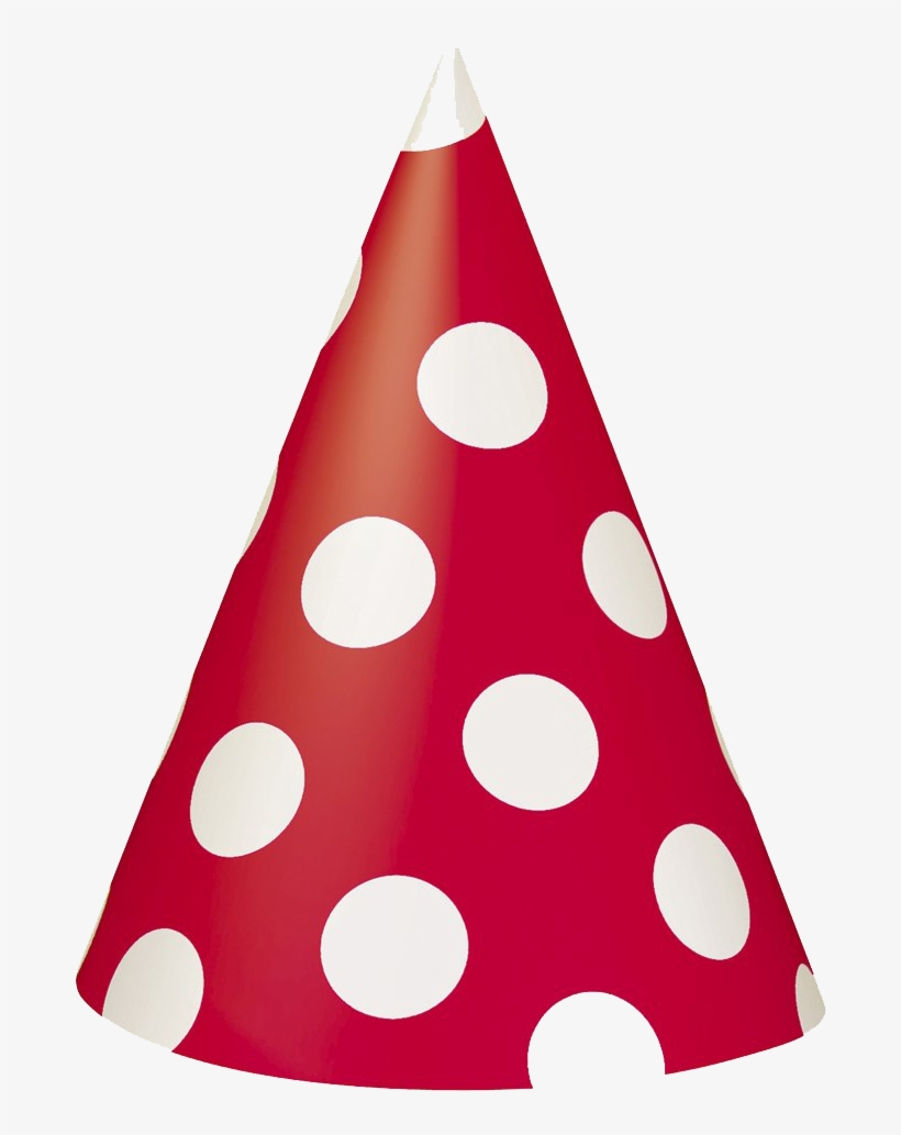Birthday Hat Png For Kids - Polka Dot Birthday Hat, transparent png #27871