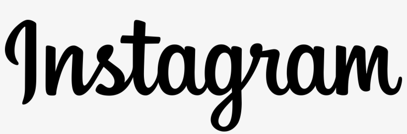 Instagram Logo Black And Ahite - Instagram Word Logo Png, transparent png #28310