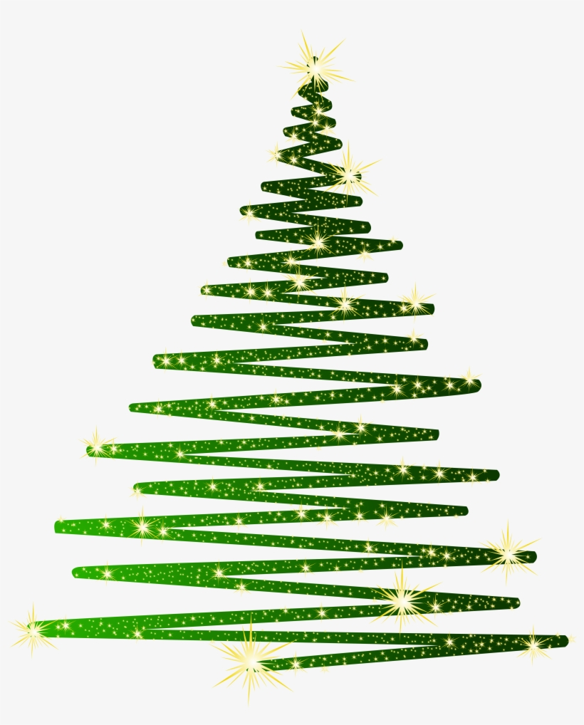 Vector Library Christmas Tree Clipart Png - Green Christmas Clip Art, transparent png #28704