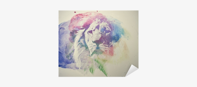 Watercolor Painting Of Lion - Watercolor Lions Png, transparent png #28751