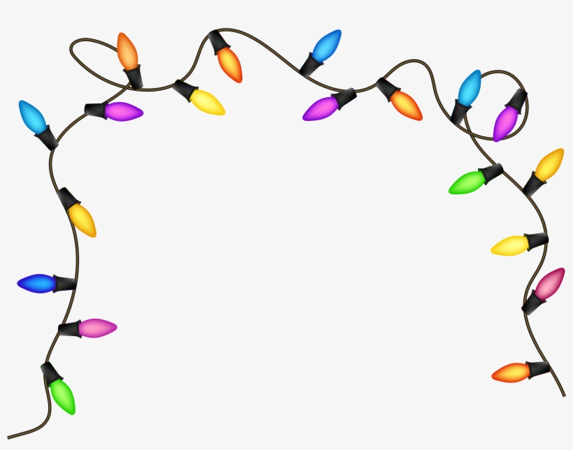 Svg Download Christmas Lights Clipart - Christmas Lights No Background, transparent png #28991