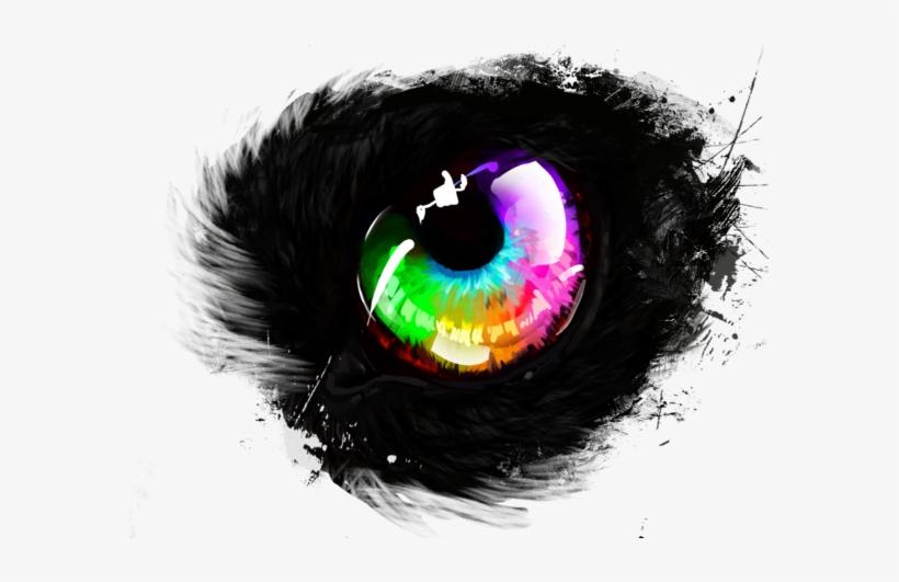 Rainbow Wolf Eye By Avengingcoconut On Deviantart Svg - Rainbow Eye No Background, transparent png #29104