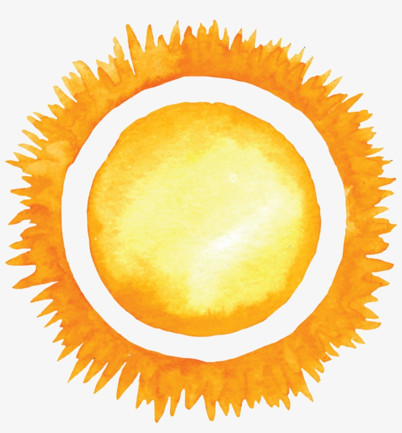 Free Download Summer Watercolor Sun Clipart Watercolor - Sun Watercolor Png, transparent png #29256