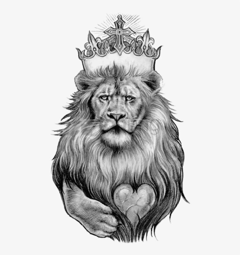 Lion Tattoo Png Clipart - Lion Tattoo Designs, transparent png #29307