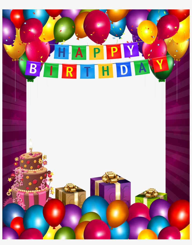 Birthday Photo Frame, Happy Birthday Photos, Birthday - Happy Birthday Frame Png, transparent png #29696