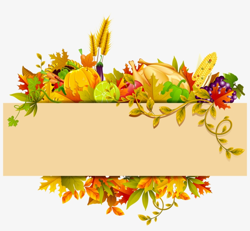 Thanksgiving Decor Png Clipart - Thanksgiving, transparent png #200300