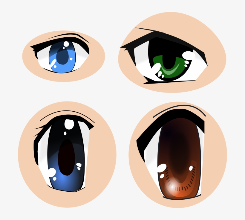 Free Anime Eyes Svg - Portable Network Graphics, transparent png #200379