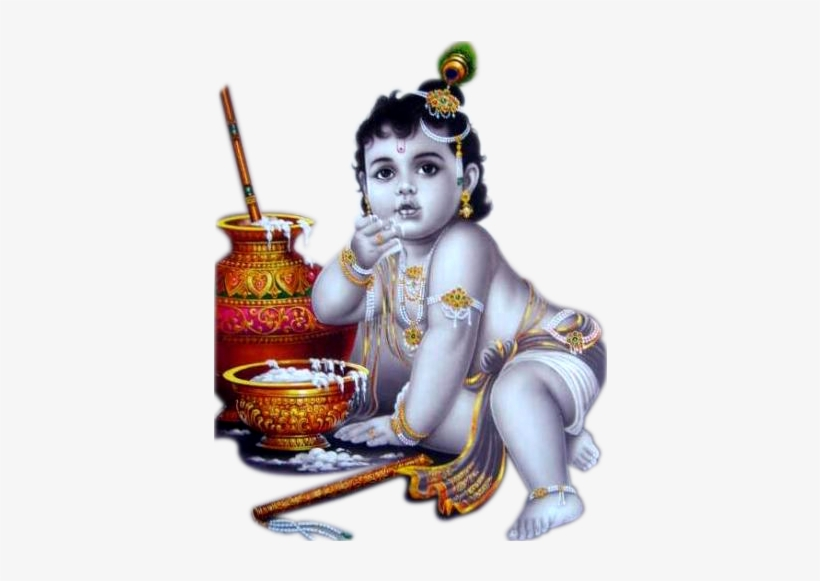 Baby Krishna Png With Basudev - Lord Krishna Png - Free Transparent
