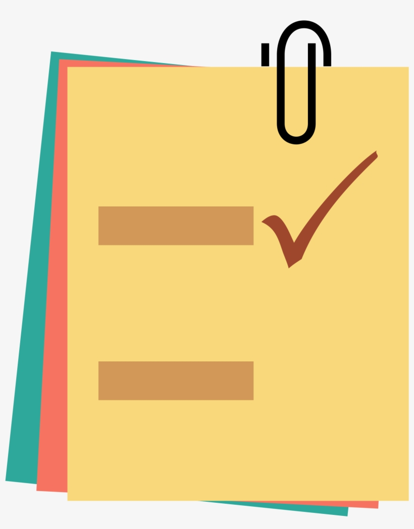 Notes Clipart Posted Note - Post Its Icon Png, transparent png #201537