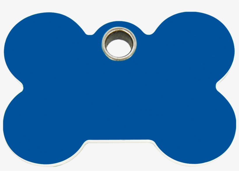 Dog Bone Tag Png - Blue Bone Dog Tag, transparent png #201589