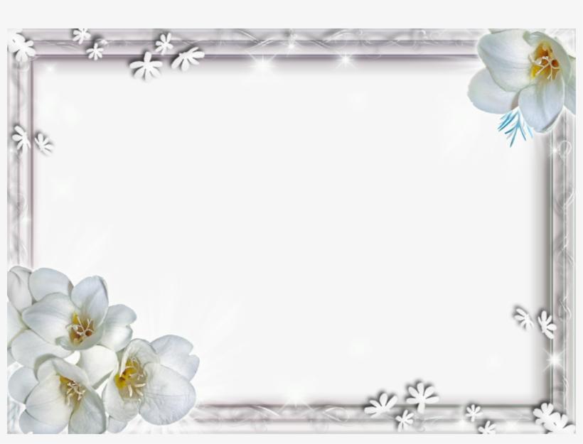 White Flower Frame Png File - White Flower Frame Png, transparent png #201934