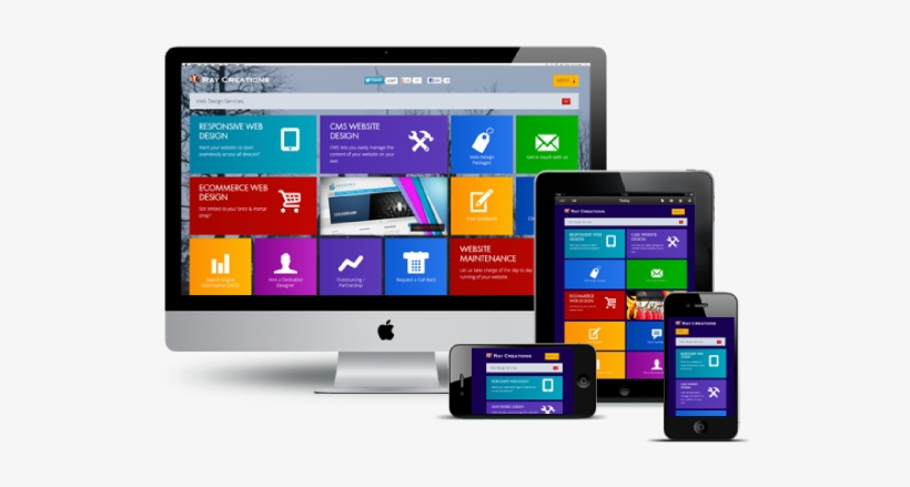 Responsive Web Design Png Picture - Responsive Website Design Png, transparent png #202367