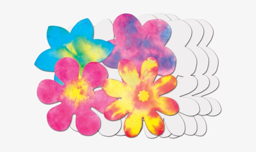 """Roylco® Colour Diffusing Flowers - Roylco 9"""" X 9"""" Color Diffusing Paper, Flowers Shape, transparent png #202400"""