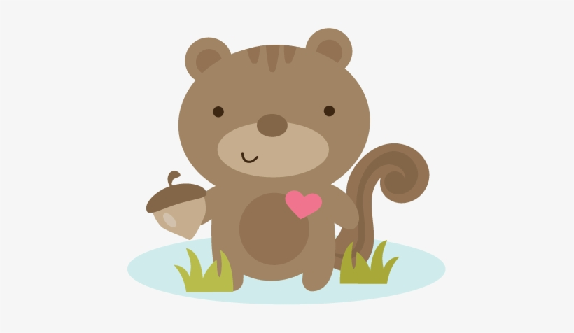 Squirrel Love Svg File For Scrapbooking Squirrel Svg - Loving Clipart Squirrels, transparent png #202511