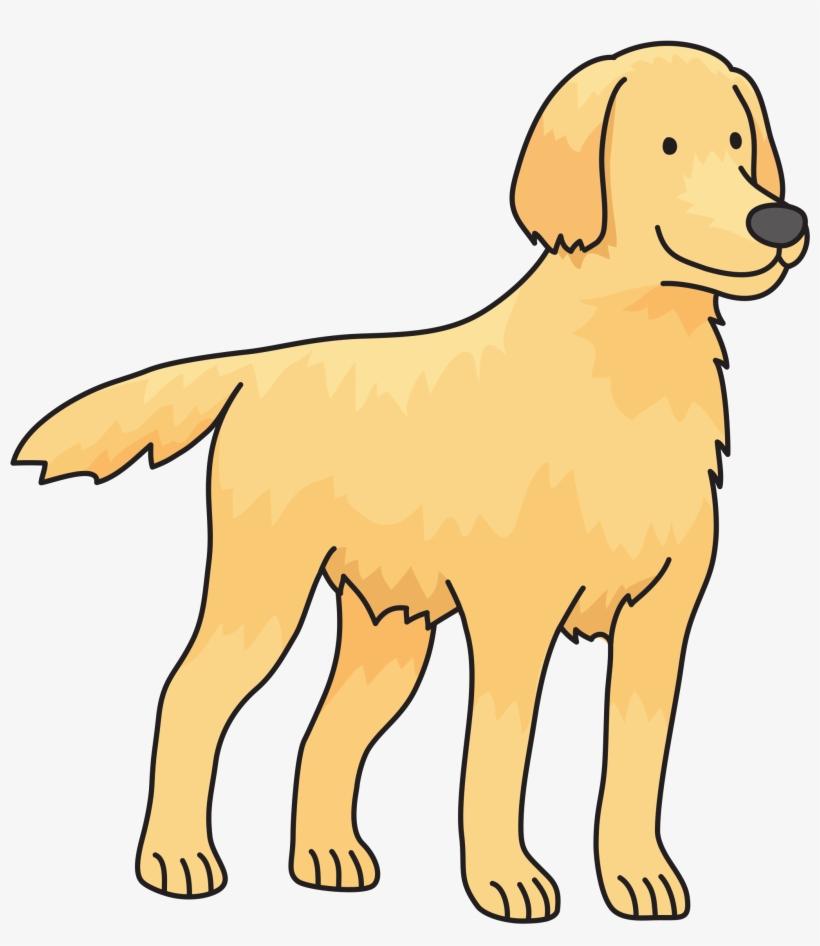Onlinelabels Clip Art Dog Details Golden Retriever Easy Drawing