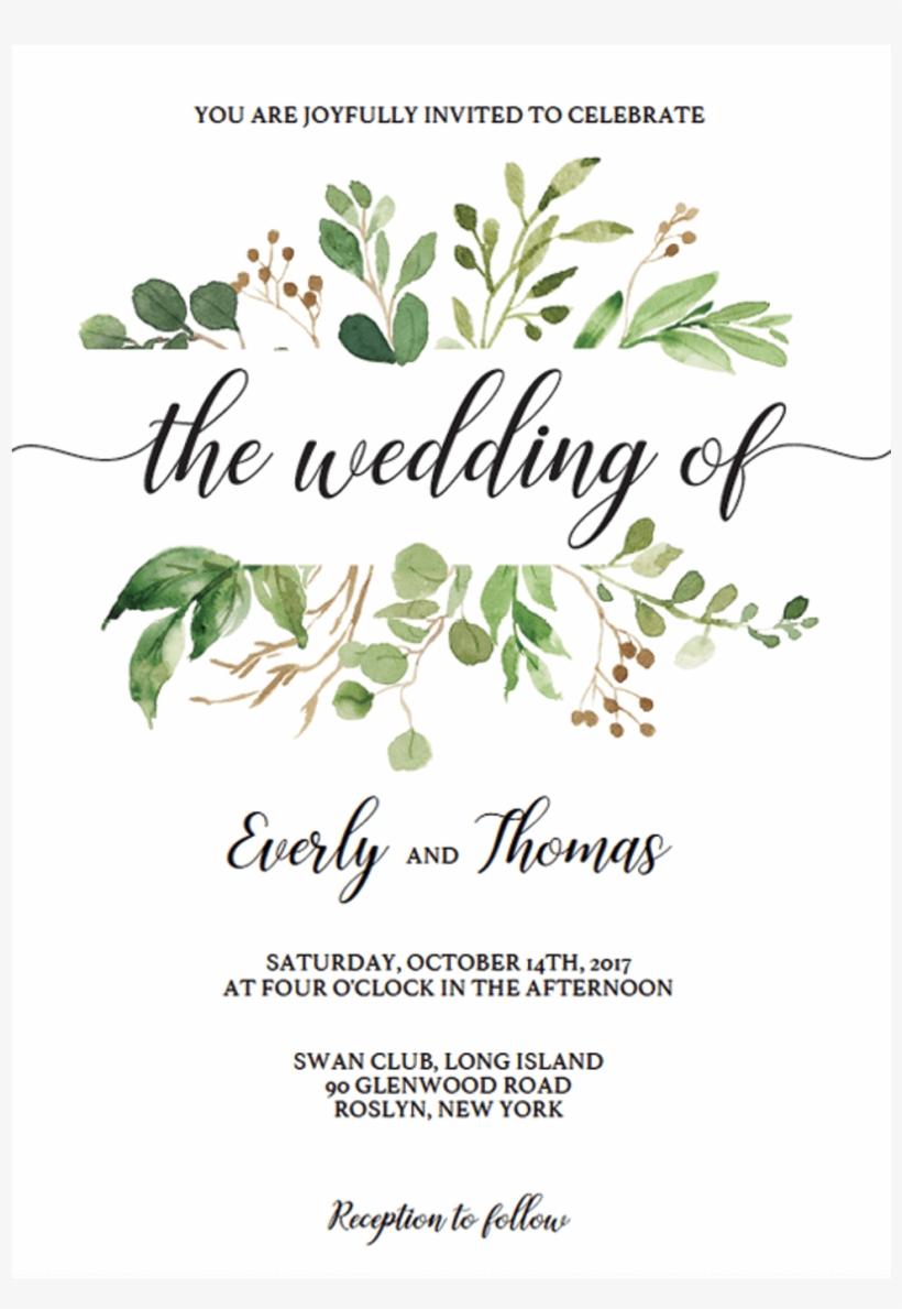 Watercolor Wedding Invitation Template Download By - Zazzle