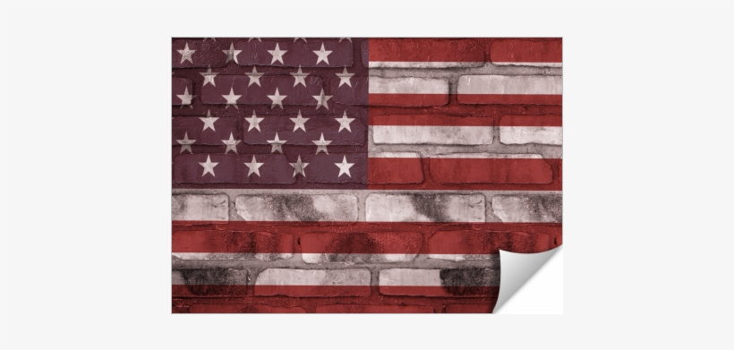 American Flag Brick Wall - American Flag Brick Wall King Duvet, transparent png #203545