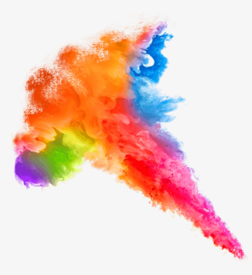 Watercolor Colorsplash Colorful Ink Rainbow Starlight - Colorful Cloud Smoke Png, transparent png #204454