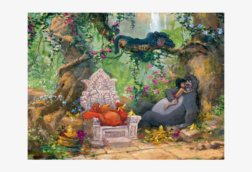Disney Fine Art - Disney Art Jungle Book, transparent png #204800