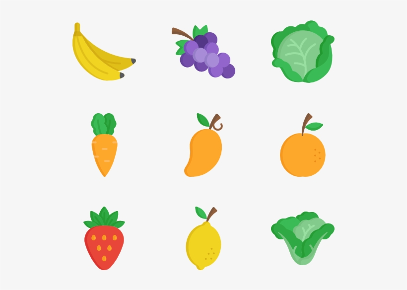 Jpg Free Library Fruits Vegetables At Getdrawings Com - Fruits And Vegetable Icon, transparent png #204929