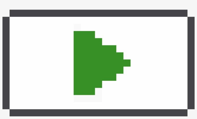 Pixel Play Button - Minecraft Pusheen Pixel Art, transparent png #205210