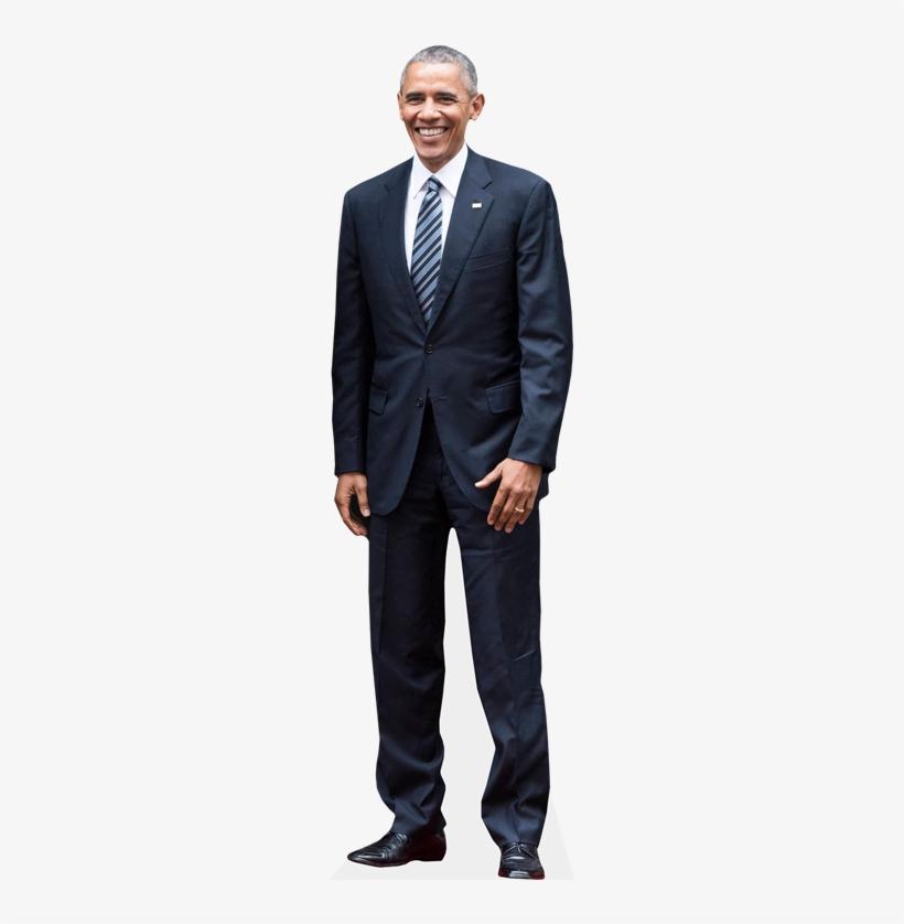 Barack Obama Cardboard Cutout Celebrity Standee - Obama Transparent Cutout, transparent png #205507