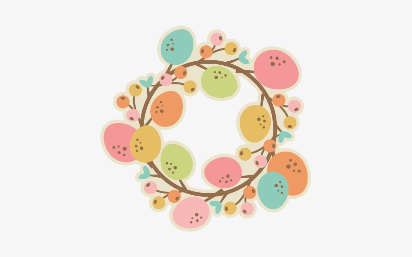 Easter Wreath Svg Cutting File Easter Svg Scrapbook - Easter Wreath Clipart, transparent png #205752