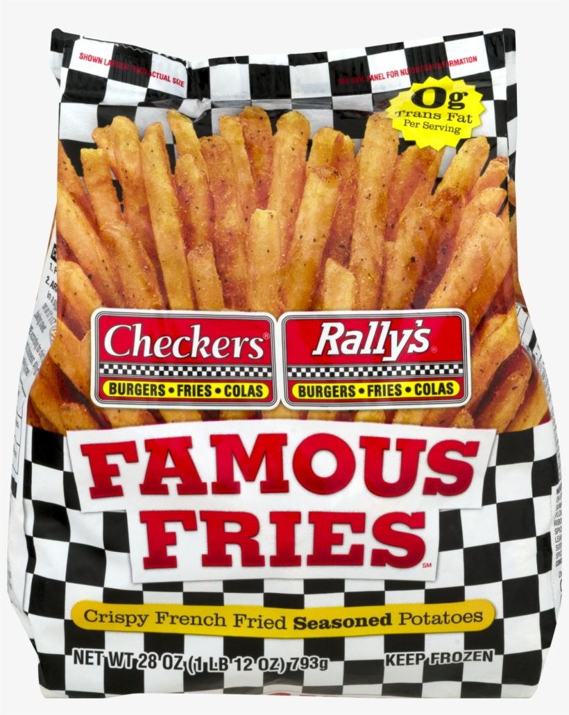Checkers Rally S Famous Fries Potatoes Crispy French Checkers Rallys Famous Fries 28 Oz Bag Free Transparent Png Download Pngkey