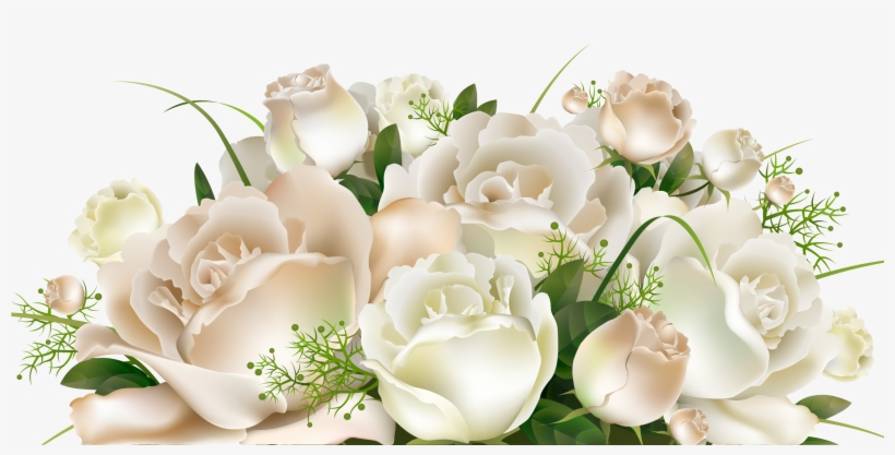 White Rose Bunch Transparent Background White Roses Png Free