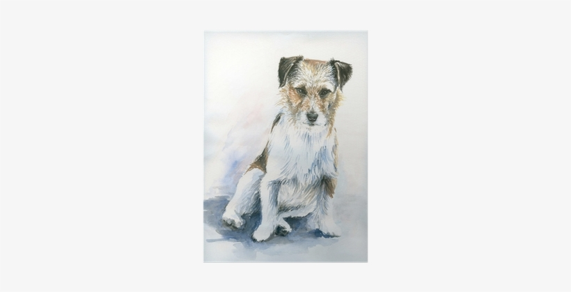 Lava Lava Painted Jack Russel Throw Pillow, Multi-colored, transparent png #208595