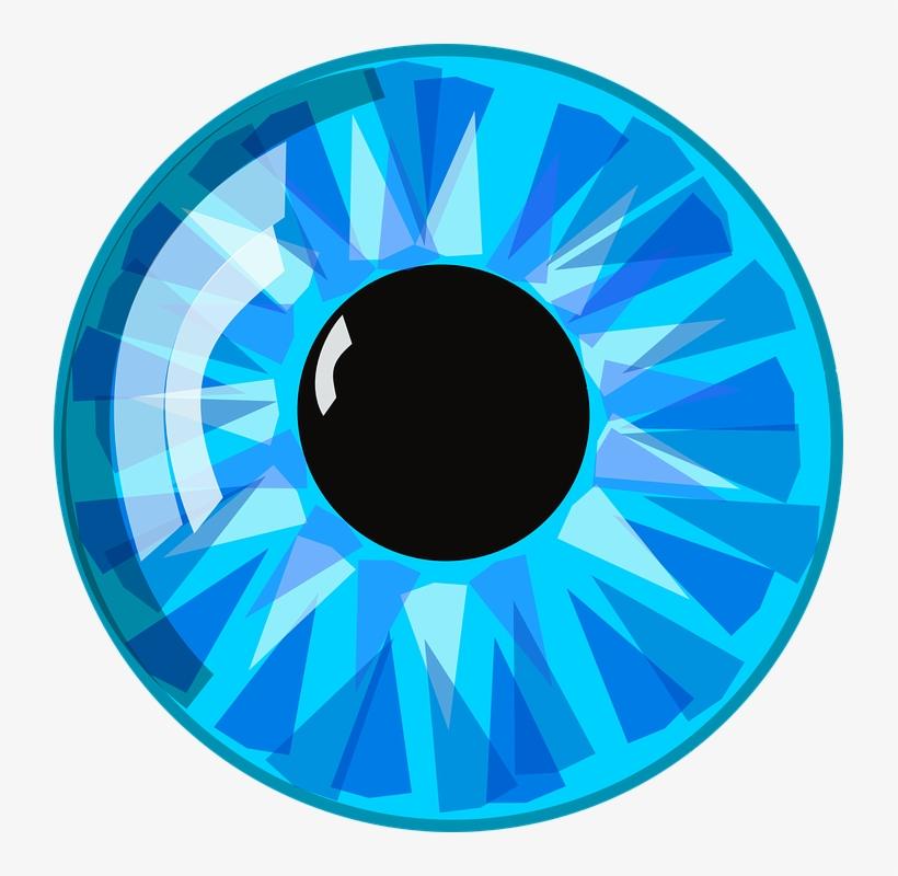 Eyeball Clipart Anime Eye - Cartoon Blue Eye, transparent png #208790