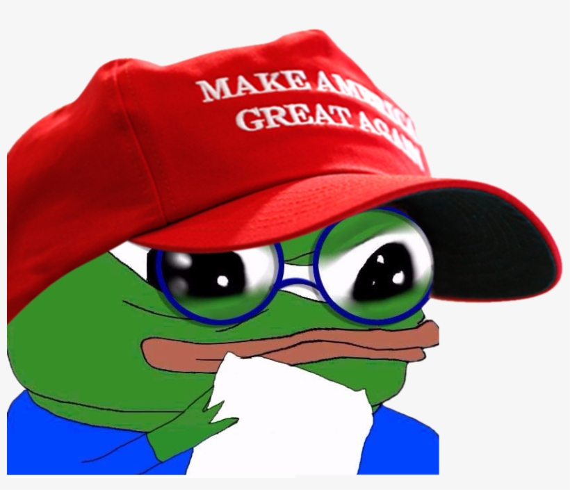 Make Great Eyewear Red Green Vertebrate Cap Headgear - Make America Great Again Pepe, transparent png #209194