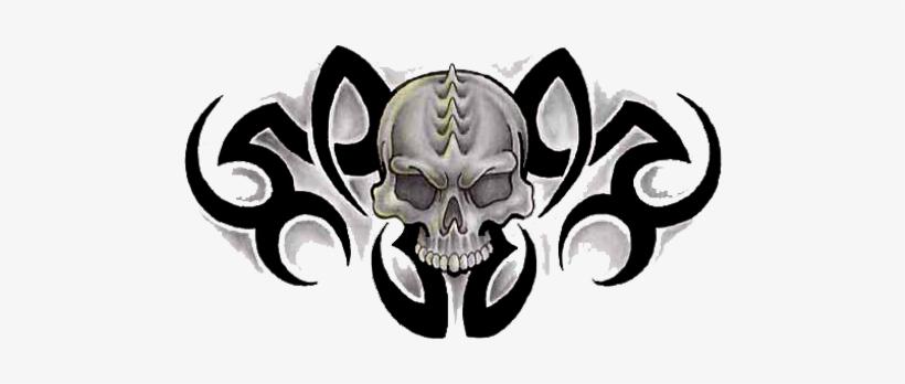 Tribal Skull Tattoos Free Png Image - Tribal Tattoo Design Skull, transparent png #209993