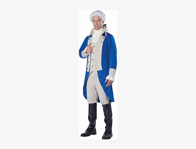 George Washington Adult Costume - George Washington Costume Mens, transparent png #2000569