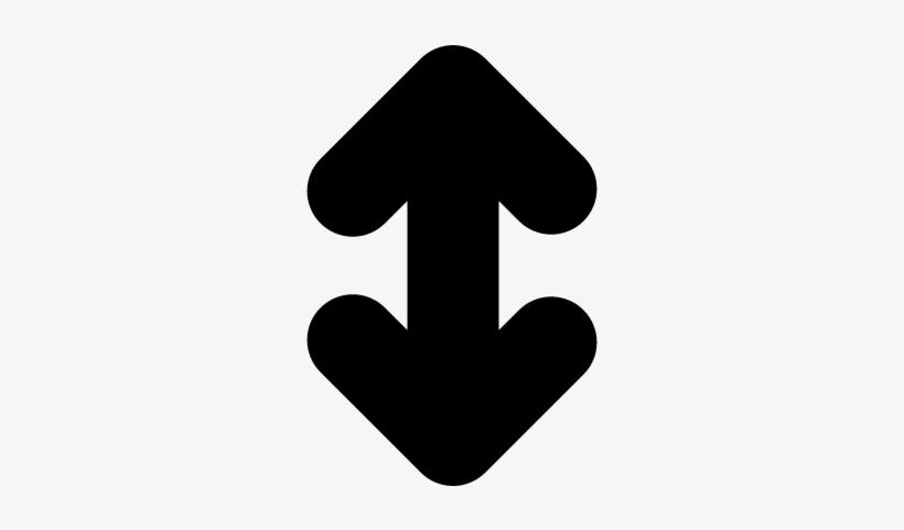 f369ca574 Double Up And Down Arrow Symbol Vector - Flecha Arriba Y Abajo ...