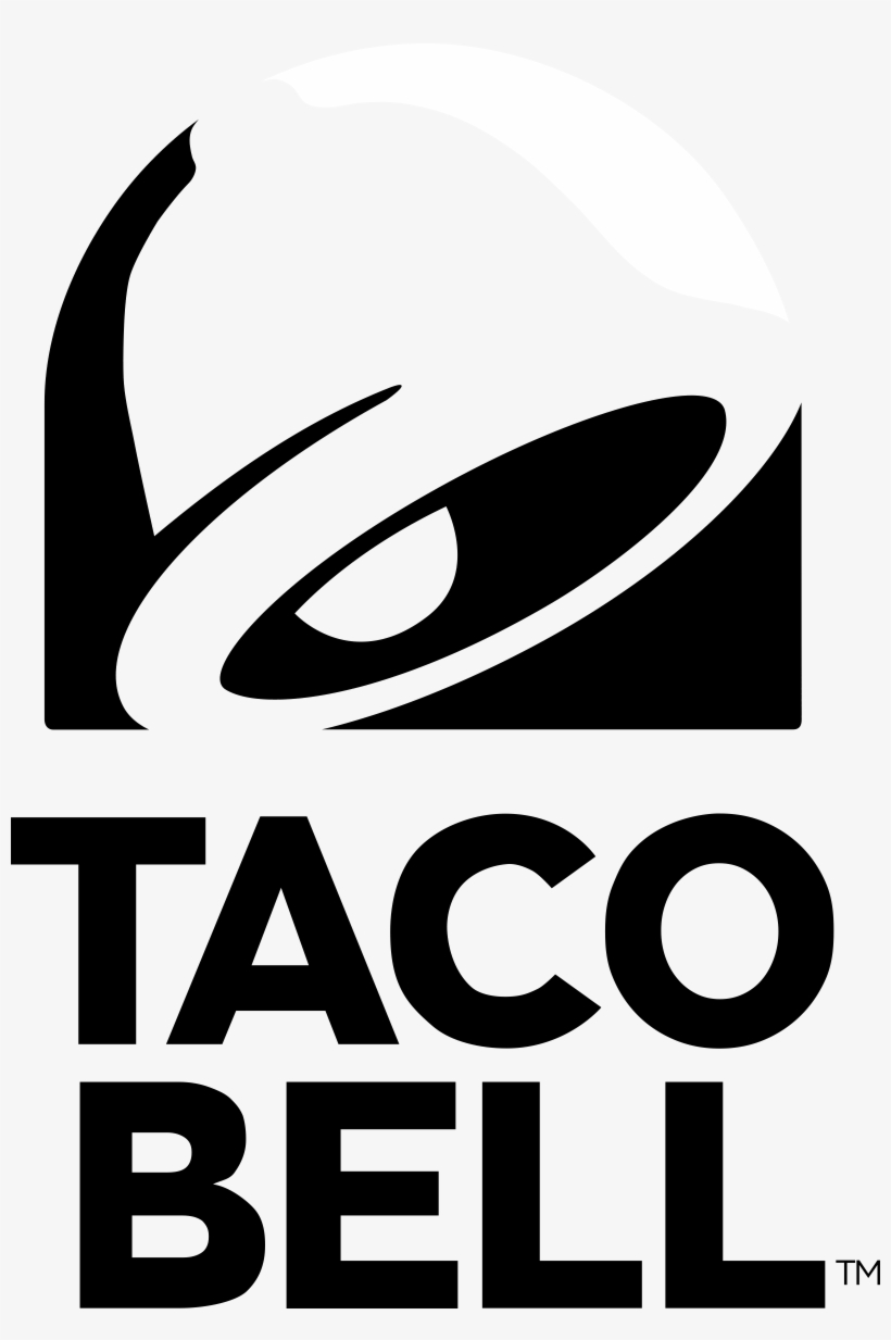 Taco Bell Black And White Png Clip Black And White - Taco Bell Logo 2018, transparent png #2003416