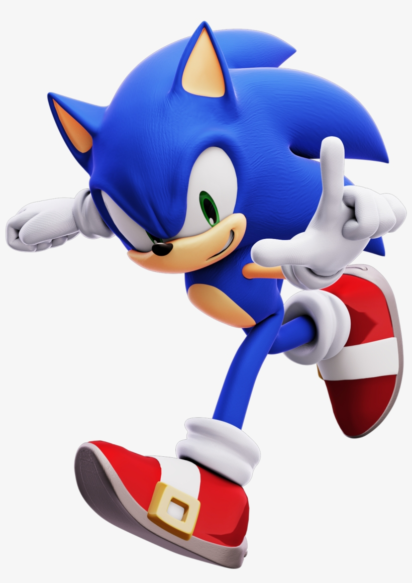 Svg Royalty Free Library Knuckles Transparent Sonic - Sonic Forces Sonic Running, transparent png #2003688