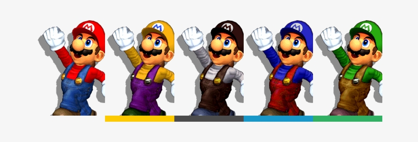 Mario Palette - Mario Super Smash Bros Melee Alternate Costumes, transparent png #2004079