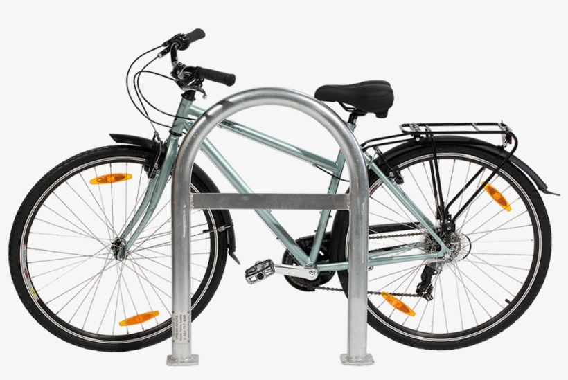 Urban Rack Staple Rack Side View - Bicycle Rack Side View, transparent png #2004782