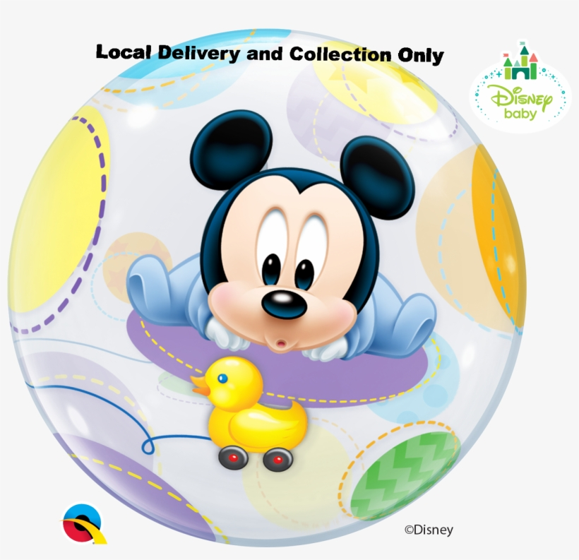 Baby Mickey Mouse Bubble Balloon - Baby Mickey Bubble Balloon, transparent png #2005204