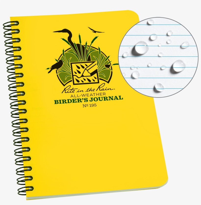 Rite In The Rain Weatherproof Spiral Notebook, - 6 By 8 Notebook, transparent png #2006203