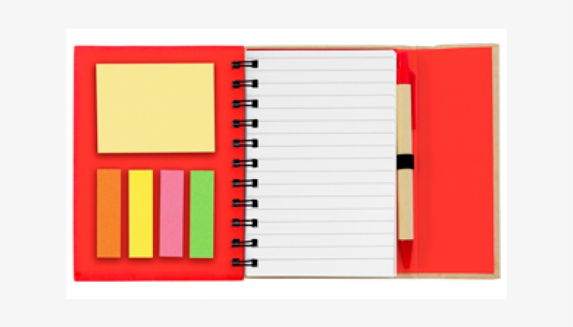 * Small Spiral Notebook With Sticky Notes And Flags - Spiral Notebook With Sticky Notes, transparent png #2006897